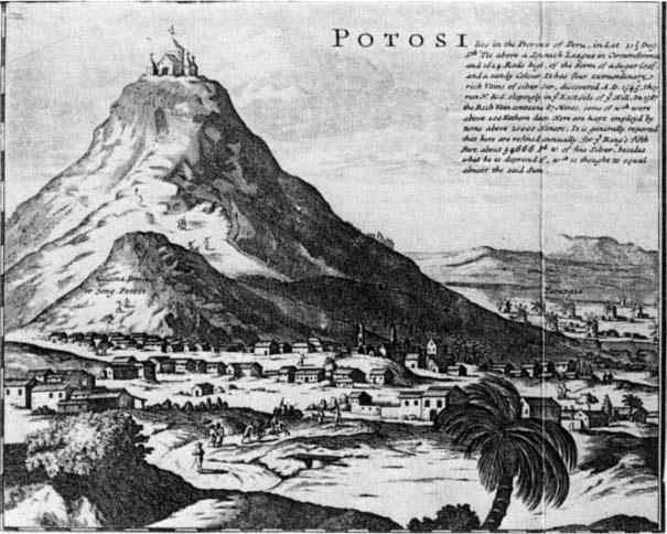 Cerro y ciudad de Potosí