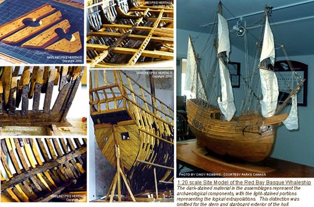 Modelo de la nao San Juan, barco ballenero de Pasajes, hundido en Red Bay (Canadá) en el siglo XVI