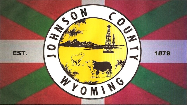 Flag of Johnson County, Wyoming, USA; based on the 'ikurriña'