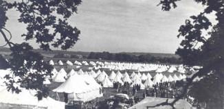 """Imagen del campamento de los """"niños vascos de la Guerra, en North Stoneham, a las afueras de Southampton"""