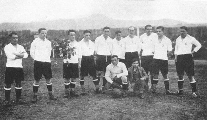 Equipo del Real Unión que goleó al Boca Juniors (4-0) en 1924