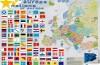 Mapa de las naciones europeas