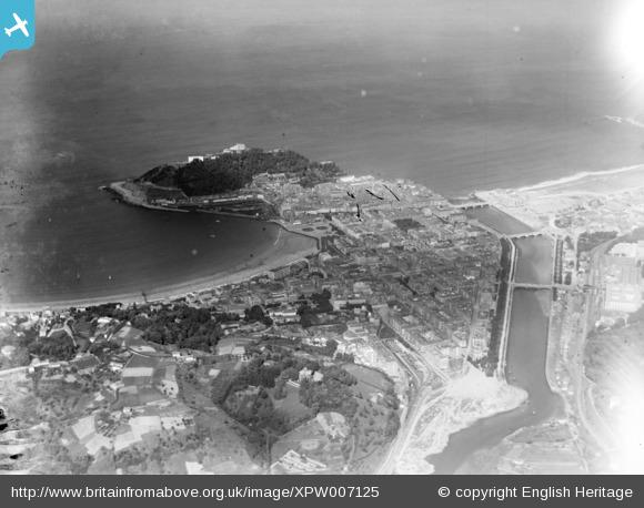 General View, San Sabastian, Basque Country, Spain, 1921. Oblique aerial photograph taken facing North. - Britain from Above