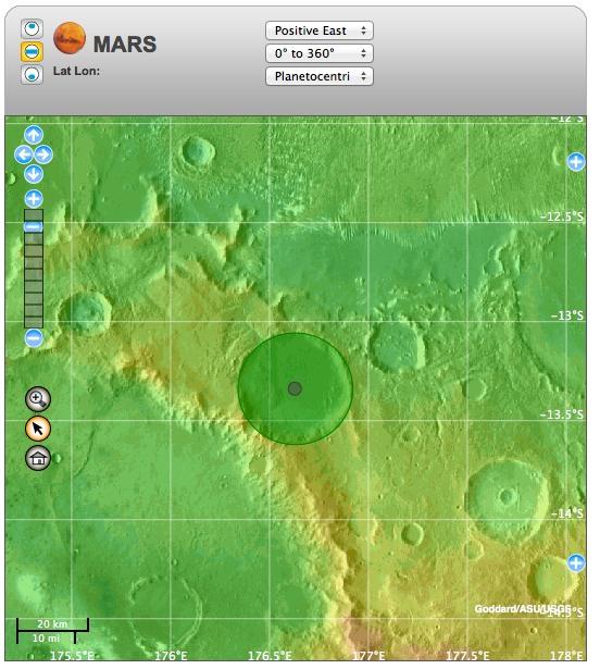 Cráter Galdakao en Marte