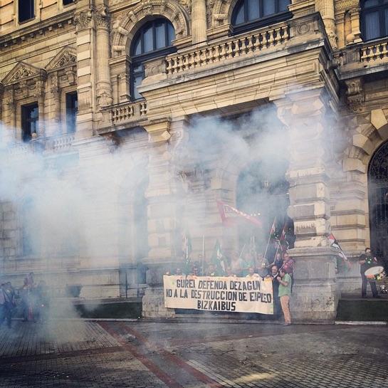 Imagen de una manifestación en Bilbao