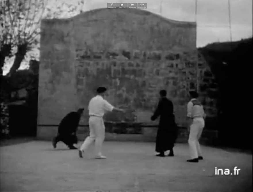 Imagen del vídeo sobre la Pelota Vasca rodado en 1951