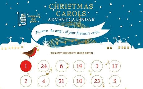 Interactive christmas carol advent calendar (The Telegraph)