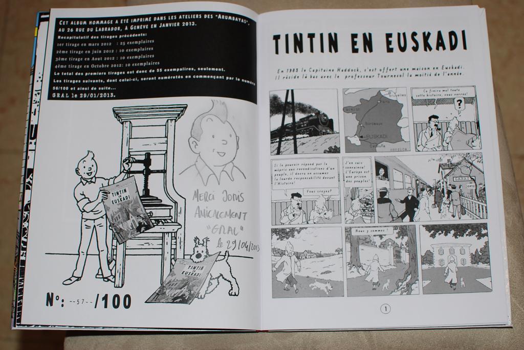 """Inicio de """"Tintin en Euskadi"""". Pastiche de Gral"""