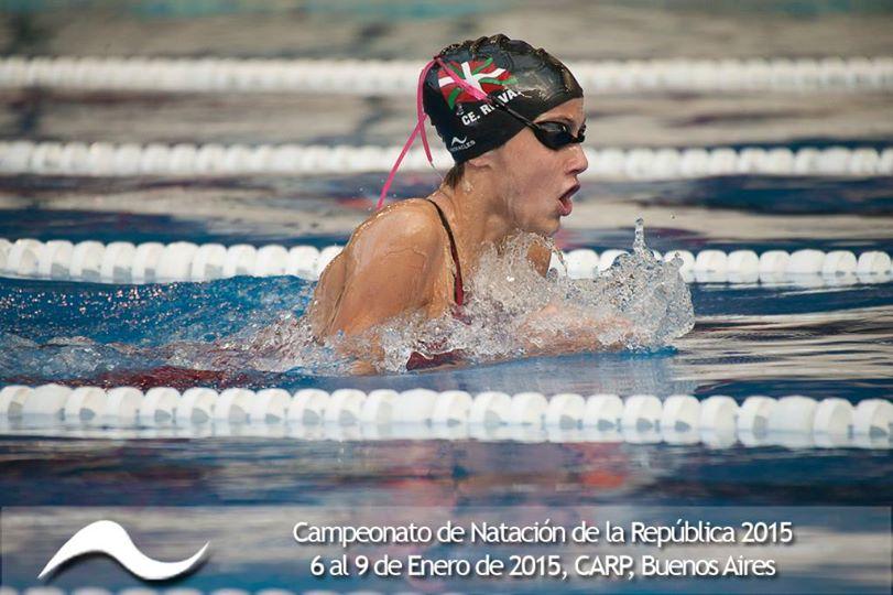 Vicky Aguirre en el Campeonato República de Natación Cadetes y Juveniles
