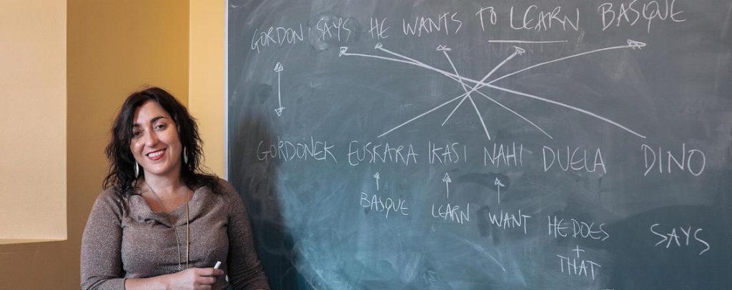 """Amaia Gabantxo, profesora de """"Elementary Basque and Introduction to Basque Culture"""" en la Universidad de Chicago"""