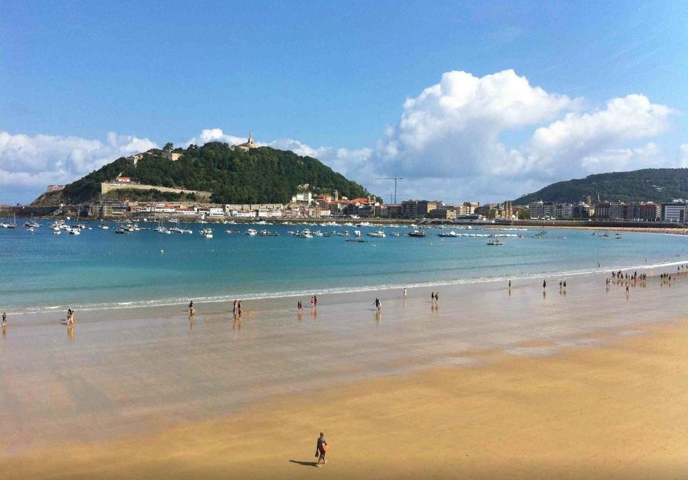 La Playa de la Concha de Donostia/San Sebastián (fotografía: Sansebastianlifestyle)