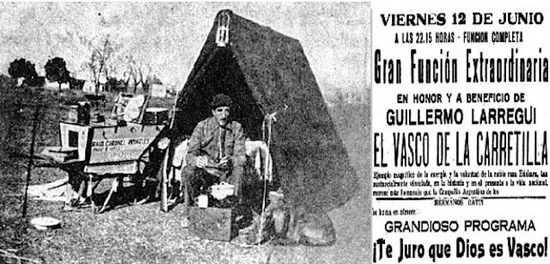 """The ceremony paying homage to and raising funds for the """"Basque with a Cart"""". The title of the play being shown is extraordinary."""