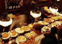 Pintxos on counter of Ormazabal Taberna bar. Picture: Getty Images