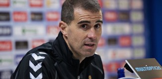 Gaizka Garitano, manager of SD Eibar, regularly speaks a number of different languages in his press conferences without incident. Photograph: Gregorio Lopez/Cordon Press/C