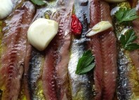 Olasagasti Anchovy Fillets in brine.