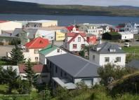 Hólmavík. El lugar donde se colocará la placa en recuerdo de los balleneros vascos asesinados Photo: Sigurður Bogi Sævarsson
