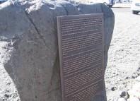 Monolito conmemorativo de la mantanza de vascos en Islandia 1615