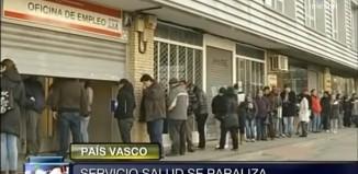 Imágenes de una oficia de paro de Madrid para hablar de la Huelga de Osakidetza