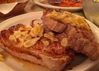 Pork Chops with garlic at the Star Hotel.