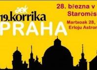 Cartel de la Korrika en Praga
