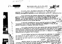 Fragmento de un documento del FBI sobre la delegación vasca en New York