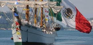 El buque escuela mexicano Cuauhtemoc, construido en Euskadi