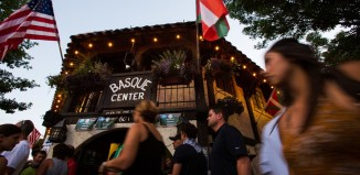 The Basque Center in downtown Boise. This year's Jaialdi drew an estimated 35,000 or more attendees. Ruth Fremson/The New York Times