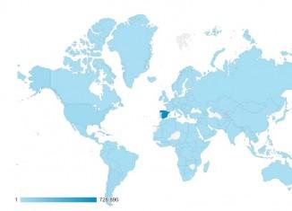 Primer millón de visitas: mapa