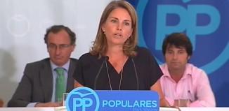 La ex-presidenta del PP de la CAPV en un vídeo de su partido