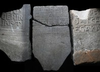 Lápidas de marinos vascos encontradas en Canadá (© Christopher Newhook)