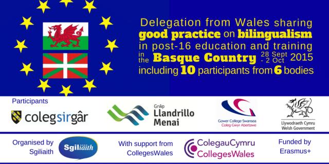 Visita de centros educativos para mayores de 16 años de Gales al País vasco 2015