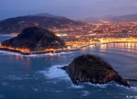 Donostia. La Concha al atardecer desde Igeldo