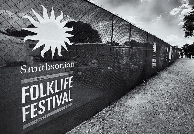 Vista de las isntalaciones del Folklife Festival en Washington