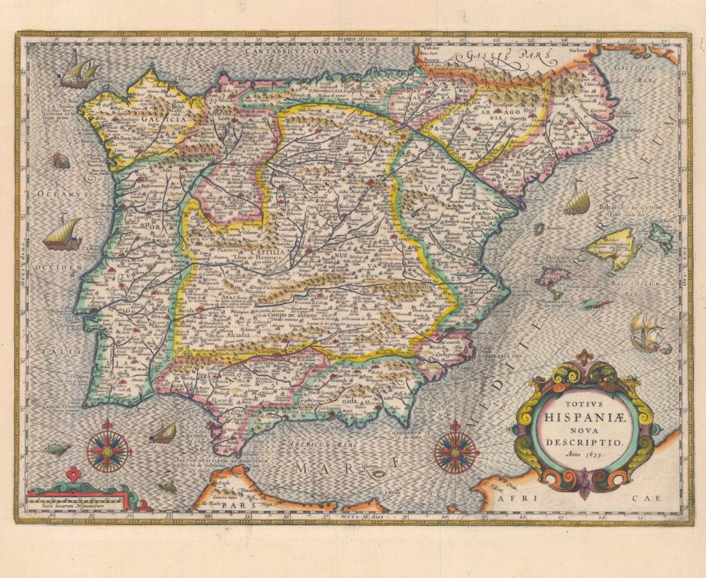 Mapa Totius Hispaniae Nova descriptio XVII