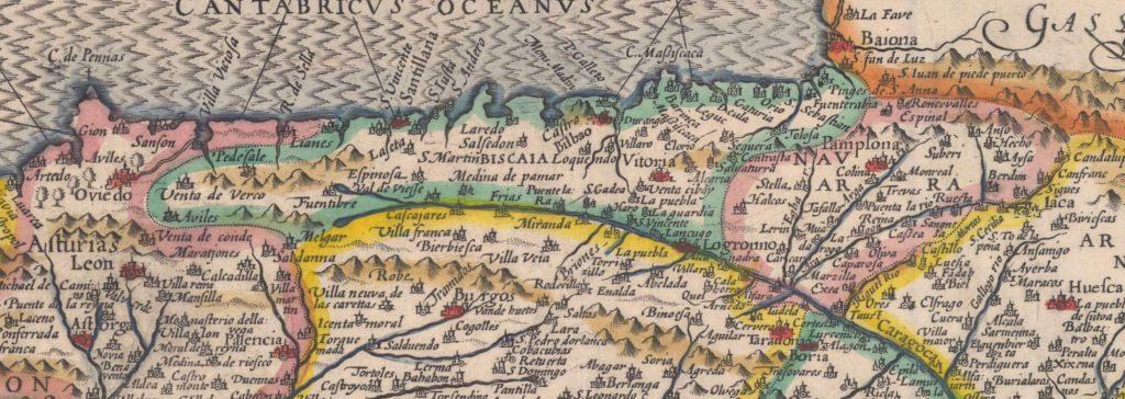 Mapa Totius Hispaniae Nova descriptio (fragmento)