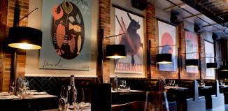 Pintura. restaurante vasco en Leeds, Gran Bretaña