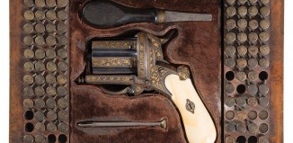 """Se subasta un """"revólver pimentero""""construido en Bilbao que es una joya. Detalle"""