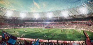 Una representación del Estadio Olimpico de Londres utilizado por el West Ham
