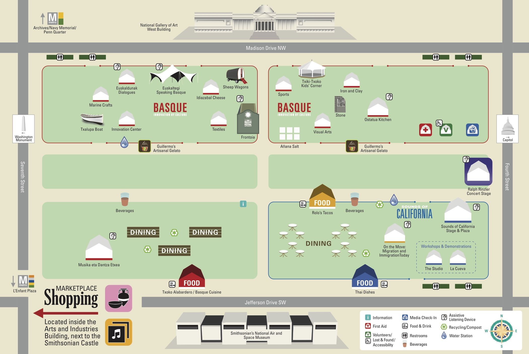 Map of the 2016 Folklife Festival