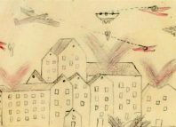 Pictures drawn by Spanish children showed bombing raids by warplanes