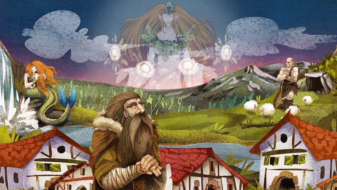 Sorginen Kondaira. Unjuego sobre mitologiía vasca