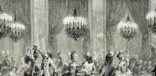 Baile en los salones de Versalles (siglo XVIII)