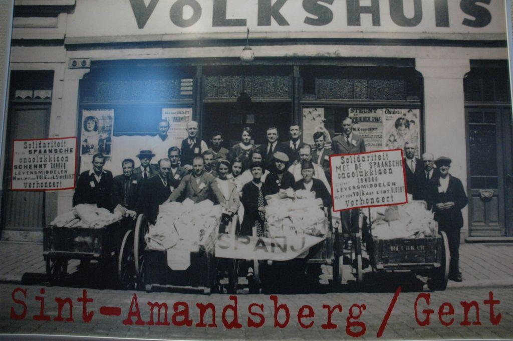 Comité de acogida a niños refugiados de la Guerra Civil española en Gante