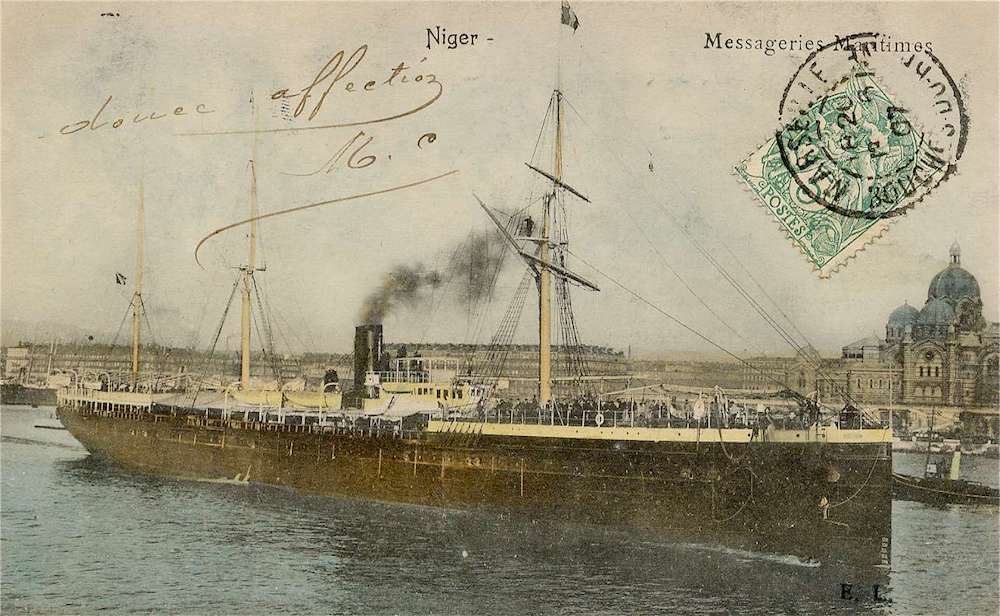 Le Niger, a boat that transported innumerable Basques from Europe to Argentina.  Among those might just be Pedro Uthurralt, one of today's protagonists.