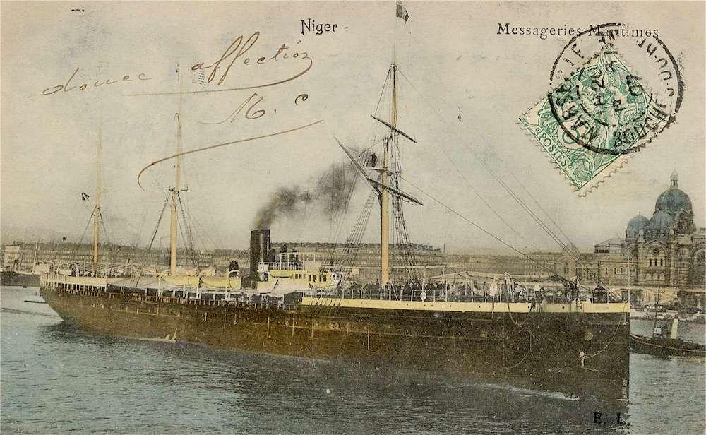 Le Niger, un buque que traslado a numerosos vascos desde Europa a Argentina