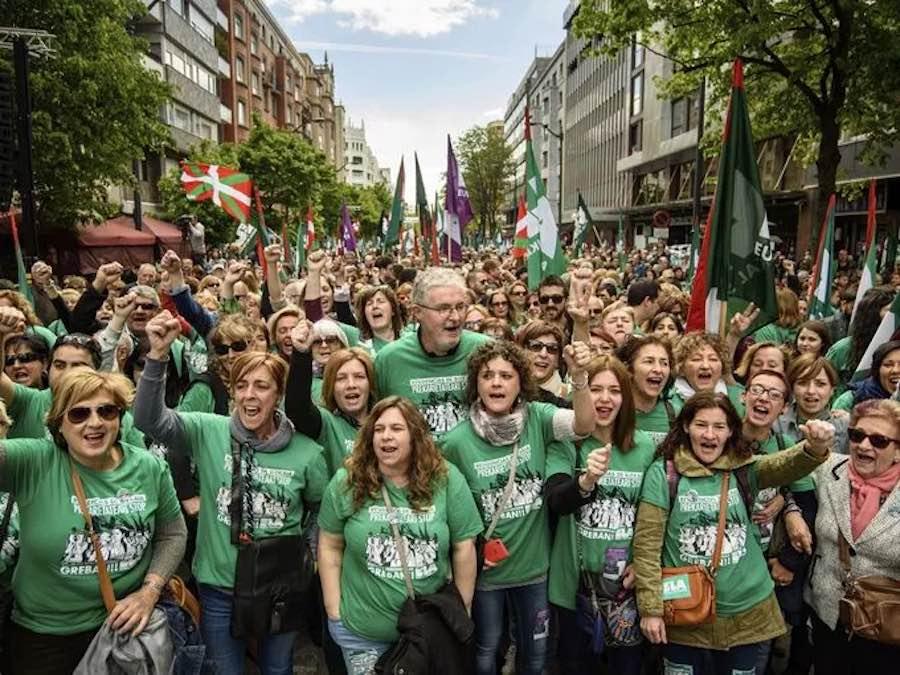 Manifestación del 1 de Mayo en Bilbao organizada por ELA
