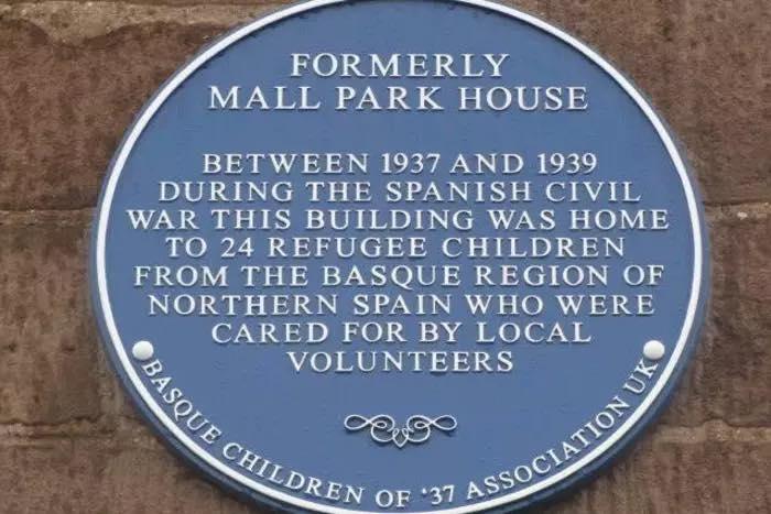 Commemorative plaque at Montrose, Scotland