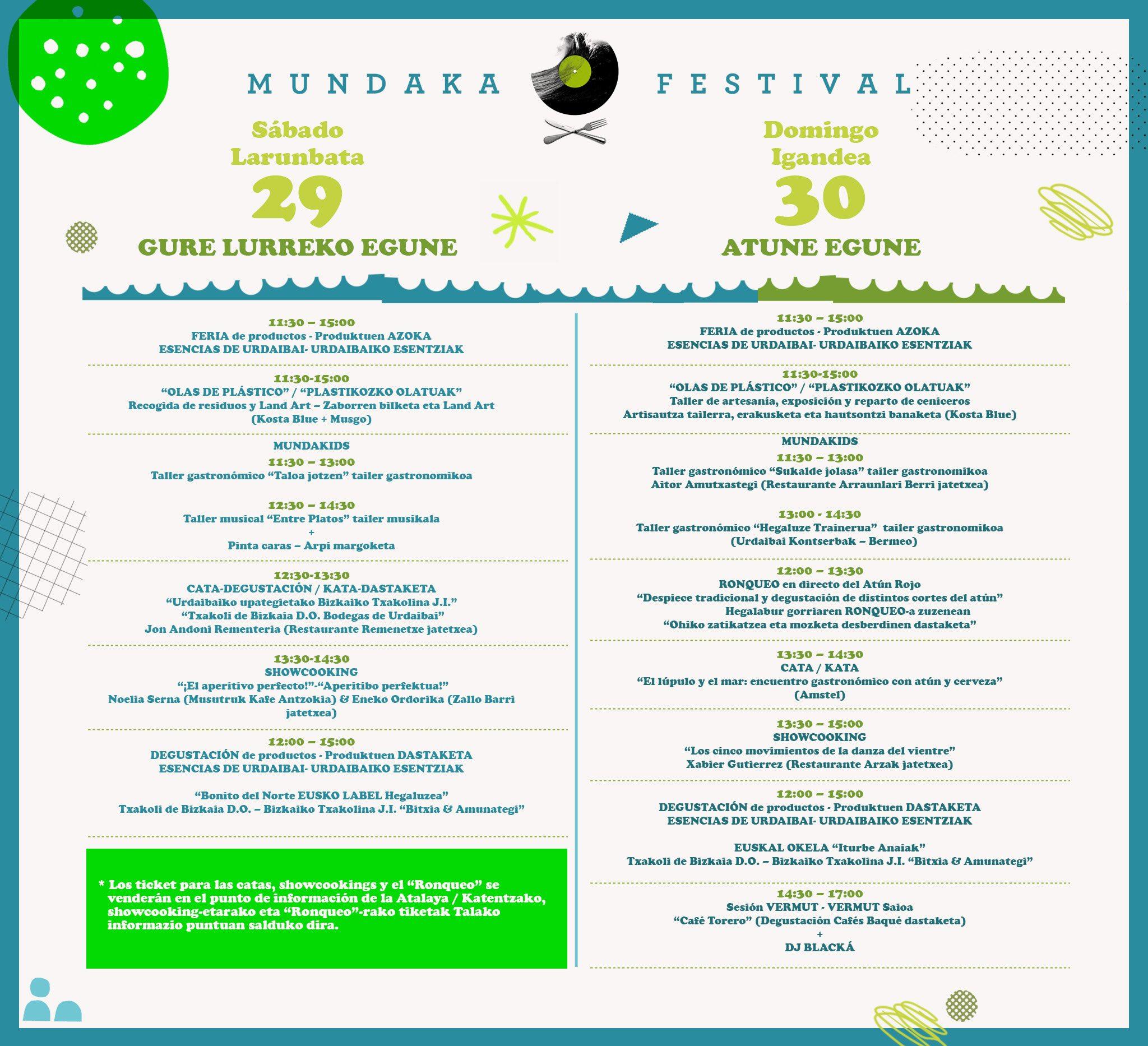 actividades Mundaka Festival 2017