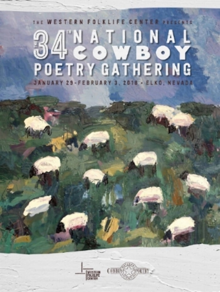 "Cartel 34º National Cowboy Poetry Gathering ( Theodore ""Ted"" Waddell)"