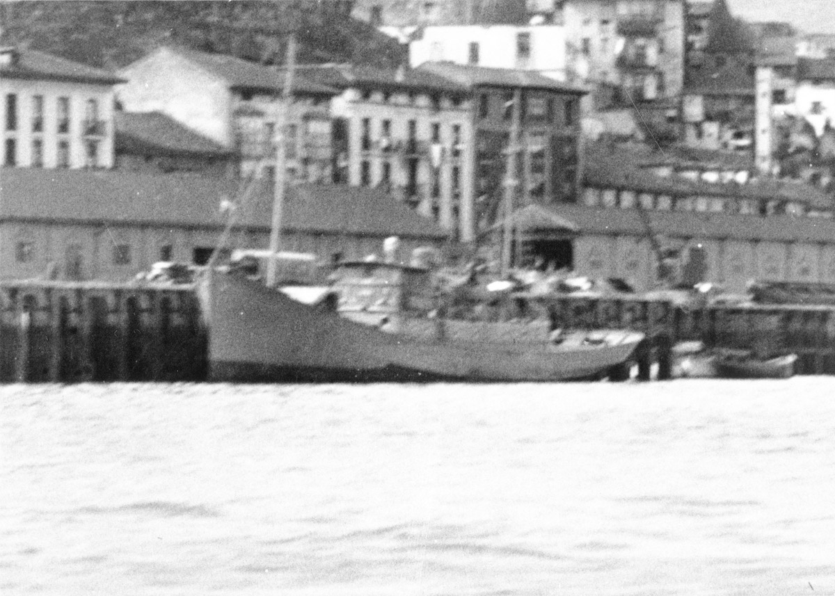 Photo of the Mourisca/D-4 minesweeper, captained by Vicente Artadi (courtesy: Gipuzkoakultura)